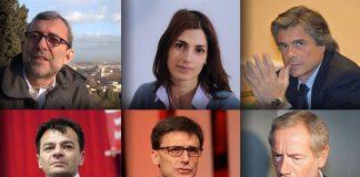 Roberto Giachetti, Guido Bertolaso, Alfio Marchini, Virginia Raggi, Roberto Morassut, Stefano Fassina