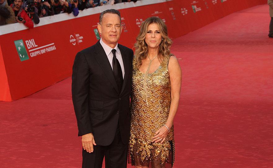 Tom Hanks e la moglie Rita Wilson (Foto Pizzi)