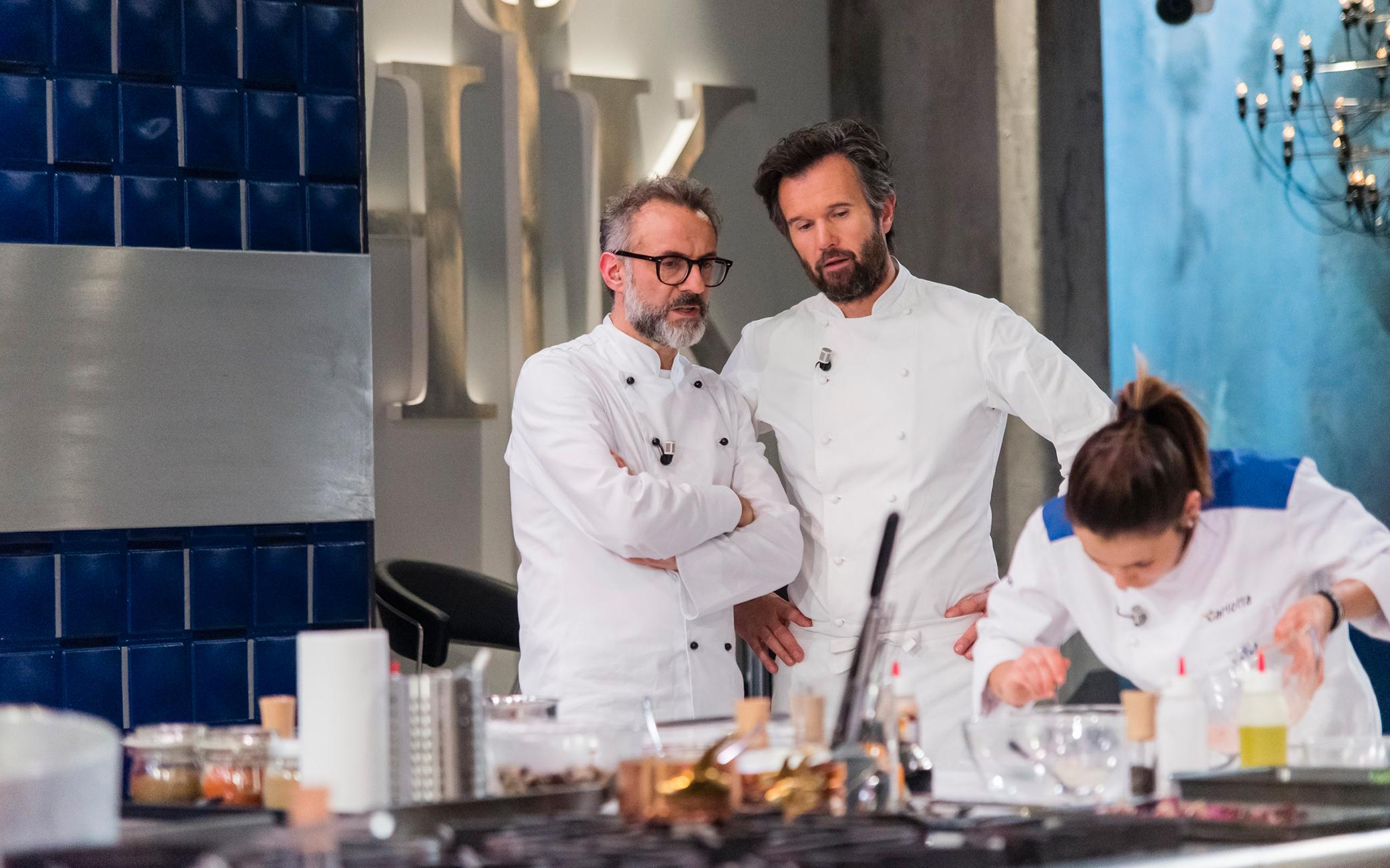 Hell's Kitchen Italia Carlo Cracco Massimo Bottura