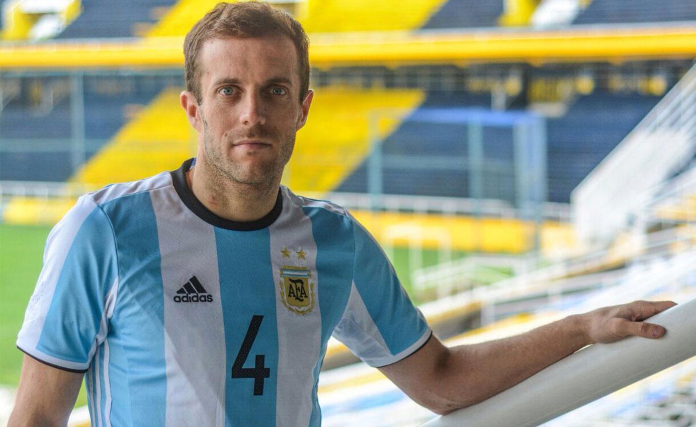 Gerardo Daniel Battistoni con la maglia dell'Argentina