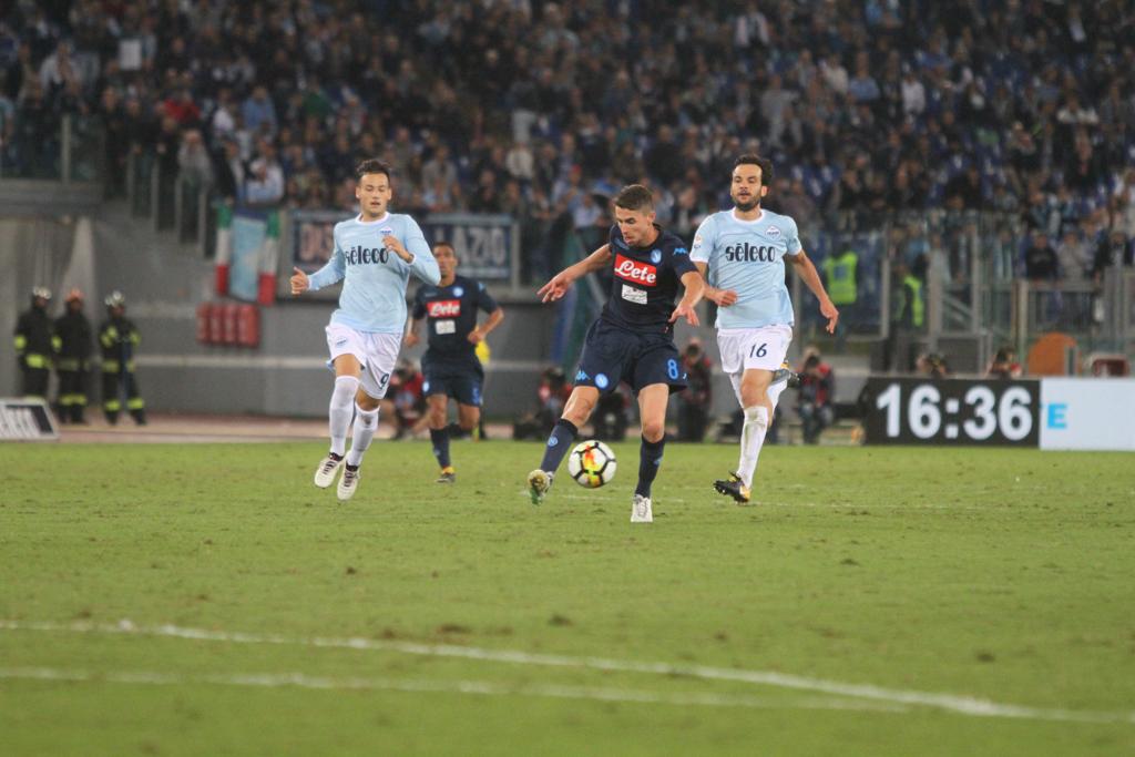 Jorginho in Lazio-Napoli (Foto Pizzi)