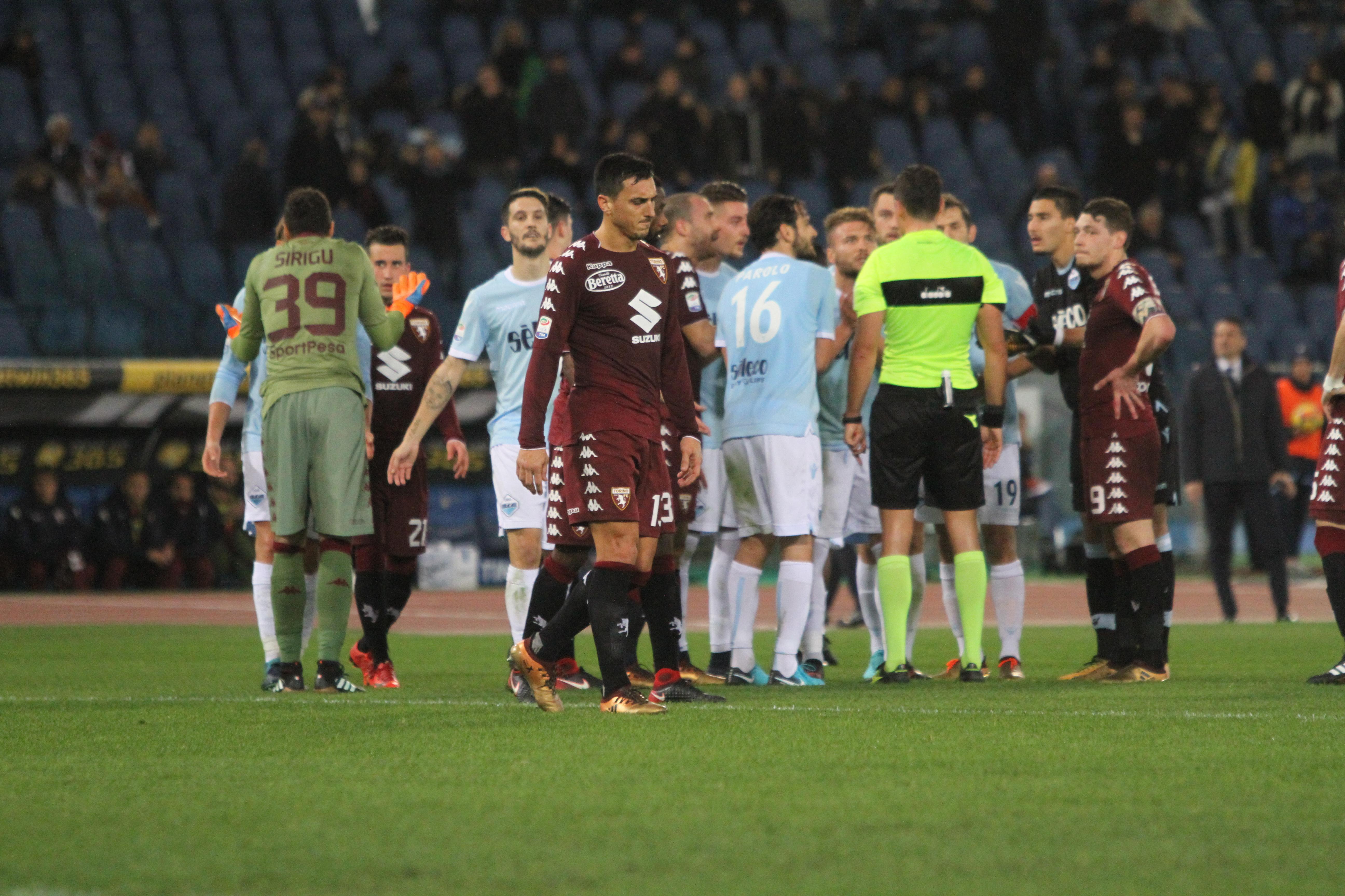 Lazio-Torino, proteste (Foto Paolo Pizzi)